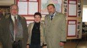 Авигдор Либерман, директор музея Инна Герасимова и посол Государства Израиль Зеев бен Арье во время посещения музея.