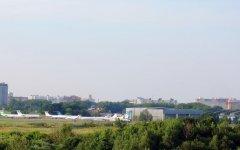 Фрагмент взлетного поля аэропорта Минск-1