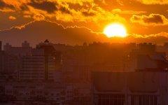 Красивый закат над Минском