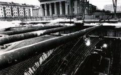 Строительство метро, станция площадь, Якуба Коласа. Начало 80-х годов